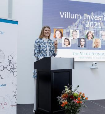 Uddannelses- og forskningsminister Ane Halsboe-Jørgensen holder tale ved ceremonien